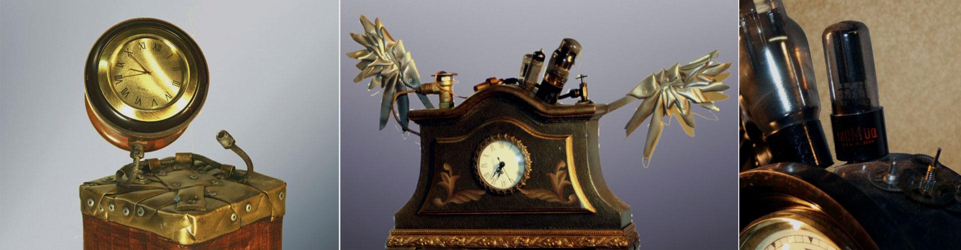 Steampunk Maniacs Flying Clocks