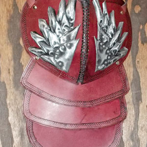 Pauldron A Ox Blood Red by Steampunk Maniacs
